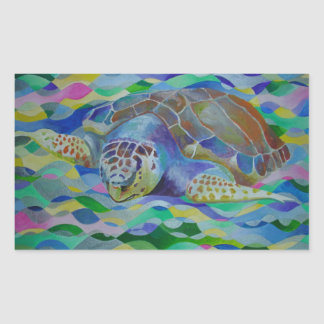 Loggerhead Turtle Rectangular Sticker
