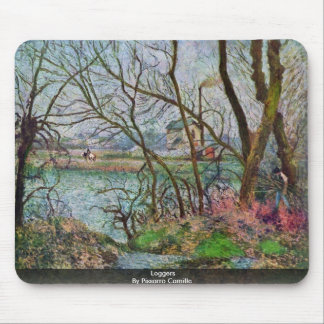 Loggers By Pissarro Camille Mouse Pad