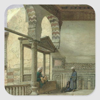 Loggia of Memlook Radnau Bey's House, Cairo Square Sticker