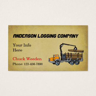 Logging Company Business Card
