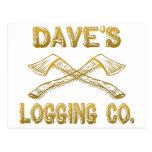 Logging Company de Dave Tarjeta Postal