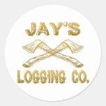 Logging Company de Jay Etiqueta Redonda