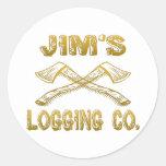 Logging Company de Jim Pegatina Redonda