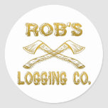 Logging Company de Rob's Pegatina Redonda