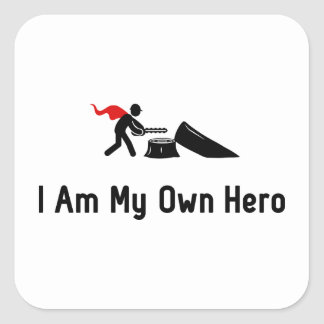 Logging Hero Square Sticker