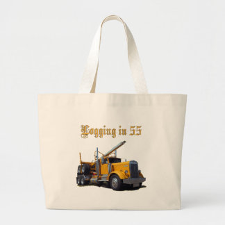 Logging in 55 large tote bag