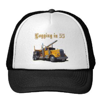 Logging in 55 trucker hat