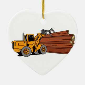 Logging Loader Ceramic Ornament