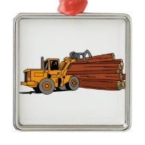 Logging Loader Metal Ornament