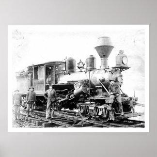 Logging Locomotive, Oregon Vintage Poster