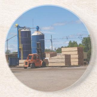 Logging Series--Stacks of lumber--Coaster Beverage Coaster