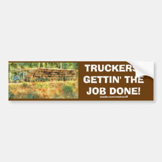 LOGGING TRUCK BIG RIG TRUCKERS Bumper Sticker