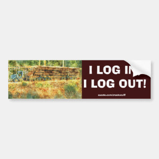 LOGGING TRUCK BIG RIG TRUCKERS FUN Bumper Sticker