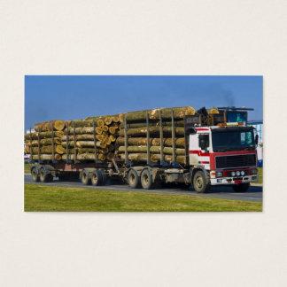 logging truck business card