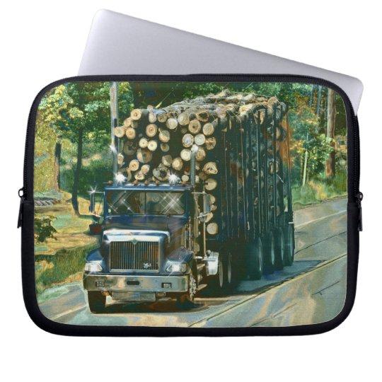 Logging Truck Driver's Art Laptop Sleeve
