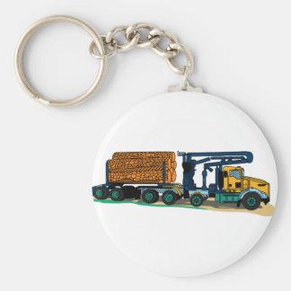 Logging Truck Keychain