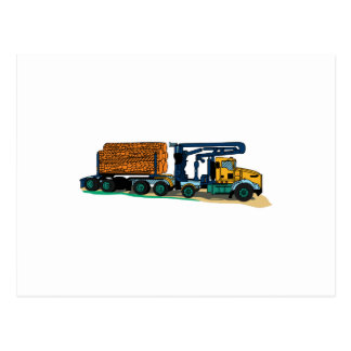 Logging Truck Postcard