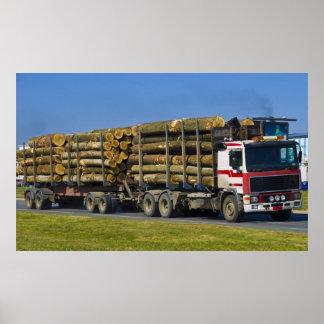 logging truck print