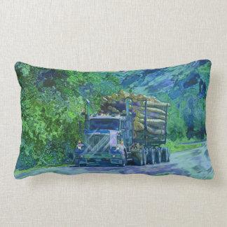Logging Truck Yukon-Alaska Highway Art Pillow