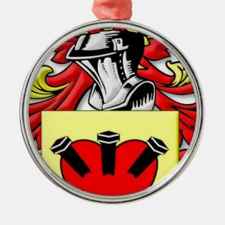 Loggins Coat of Arms Round Metal Christmas Ornament