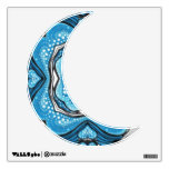 Loght Blue Moon Shape III Wall Sticker