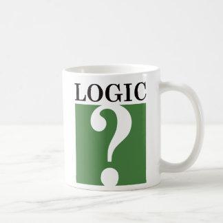 Logic - Black and Green Classic White Coffee Mug