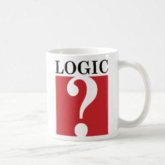 Logic - Black and Red Classic White Coffee Mug