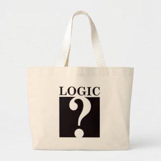 Logic - Black Jumbo Tote Bag