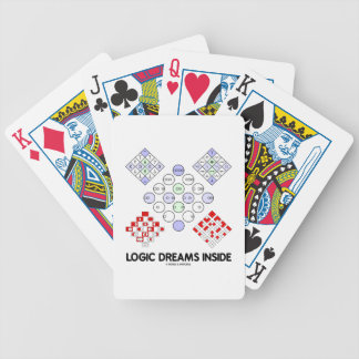 Logic Dreams Inside (Logic Matrices) Bicycle Playing Cards