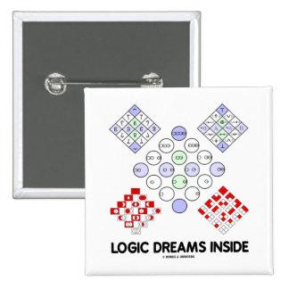 Logic Dreams Inside (Logic Matrices) Pinback Buttons