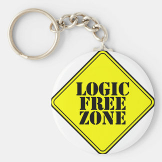 LOGIC FREE ZONE KEYCHAIN