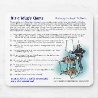 Logic puzzle mousepad - office theme