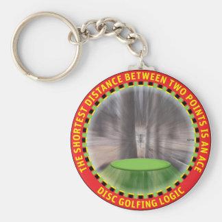 Lógica #1 del golf del disco llavero redondo tipo pin