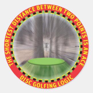 Lógica #1 del golf del disco pegatina redonda