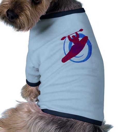 Lógica de desafío del kajak camiseta con mangas para perro