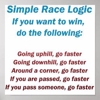 Lógica de la raza póster
