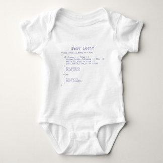 Lógica del bebé tshirt