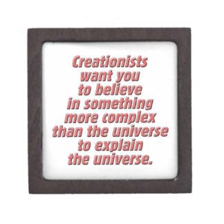 Lógica para el Creationist Cajas De Regalo De Calidad