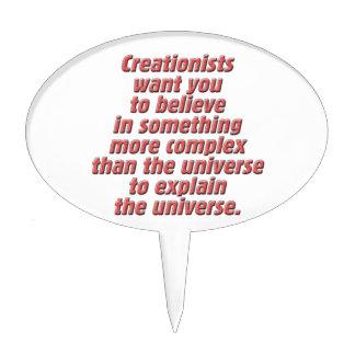 Lógica para el Creationist Figura De Tarta