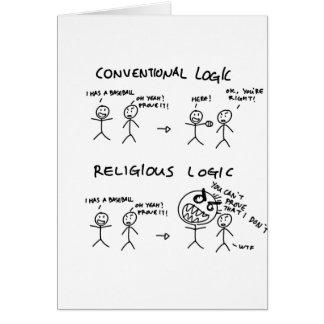 Lógica religiosa tarjeta de felicitación