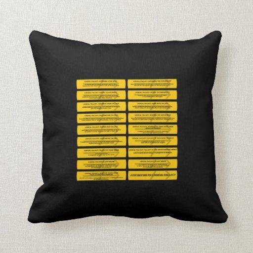 Logical Fallacies - Just Say No Throw Pillows Zazzle