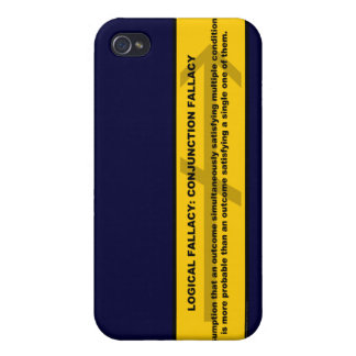 Logical Fallacy: Conjunction Fallacy iPhone 4 Case