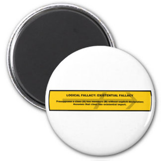 Logical Fallacy: Existential Fallacy 2 Inch Round Magnet