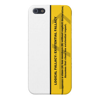 Logical Fallacy: Existential Fallacy iPhone SE/5/5s Case