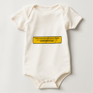 Logical Fallacy: Fallacy of Exclusive Premises Baby Bodysuit