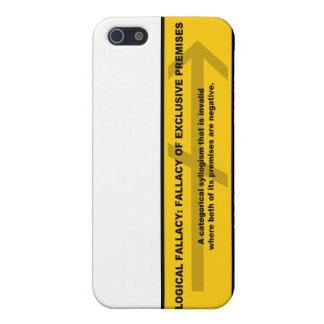Logical Fallacy: Fallacy of Exclusive Premises iPhone SE/5/5s Case