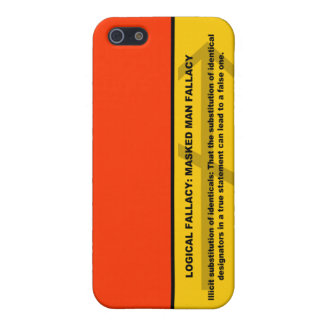 Logical Fallacy: Masked Man Fallacy Cover For iPhone SE/5/5s