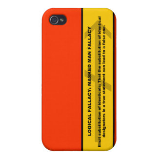 Logical Fallacy: Masked Man Fallacy iPhone 4 Cover