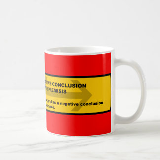Logical Fallacy: Negative Conclusion From Affir... Coffee Mug