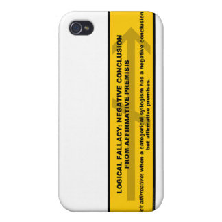 Logical Fallacy: Negative Conclusion From Affir... iPhone 4 Cover